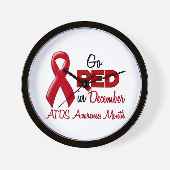 AIDS Awareness Month 1.2 Wall Clock