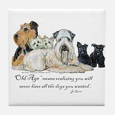 Love Dogs Tile Coaster
