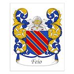 Feio Family Crest Small Poster