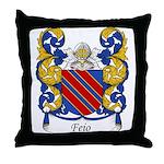 Feio Family Crest Throw Pillow