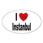 I Love Instanbul Turkey Oval Sticker (10 pk)