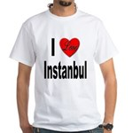 I Love Instanbul Turkey (Front) White T-Shirt