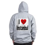 I Love Instanbul Turkey (Back) Zip Hoodie