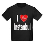 I Love Instanbul Turkey (Front) Kids Dark T-Shirt