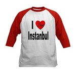 I Love Instanbul Turkey (Front) Kids Baseball Jers