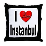 I Love Instanbul Turkey Throw Pillow