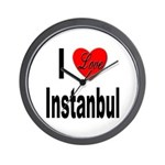 I Love Instanbul Turkey Wall Clock