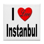 I Love Instanbul Turkey Tile Coaster