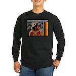 Rasta Love Jah Long Sleeve Dark T-Shirt