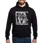Report Animal Cruelty Dog Hoodie (dark)
