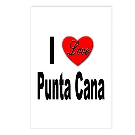 I Love Punta Cana Postcards (Package of 8)