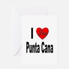 I Love Punta Cana Greeting Card