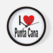 I Love Punta Cana Wall Clock