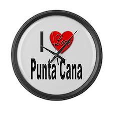 I Love Punta Cana Large Wall Clock