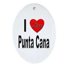 I Love Punta Cana Oval Ornament