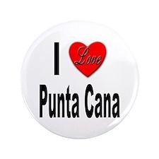 "I Love Punta Cana 3.5"" Button"