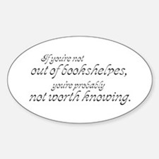 Out of Shelves Oval Decal