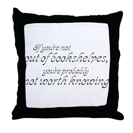 Out of Shelves Throw Pillow