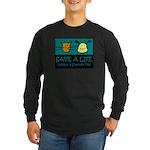 Save A Life Adopt a Pet Long Sleeve Dark T-Shirt