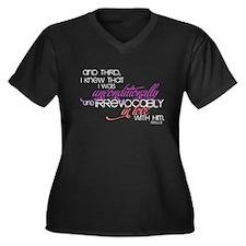 Unconditionally Women's Plus Size V-Neck Dark T-Sh