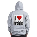 I Love Puerto Vallarta (Back) Zip Hoodie