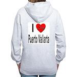 I Love Puerto Vallarta (Back) Women's Zip Hoodie