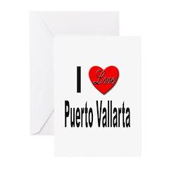 I Love Puerto Vallarta Greeting Cards (Pk of 10)