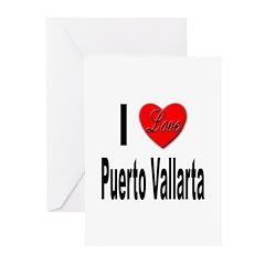 I Love Puerto Vallarta Greeting Cards (Pk of 20)