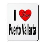 I Love Puerto Vallarta Mousepad