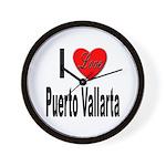 I Love Puerto Vallarta Wall Clock