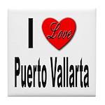 I Love Puerto Vallarta Tile Coaster