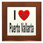 I Love Puerto Vallarta Framed Tile