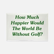 World Without Golf Rectangle Magnet