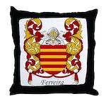 Ferreira Family Crest Throw Pillow