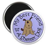 My Best Friend is a Shelter D Magnet