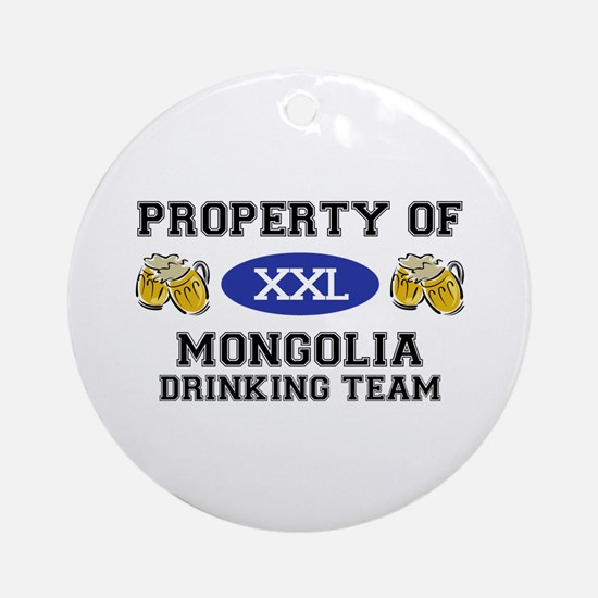 Property of Mongolia Drinking Team Ornament (Round