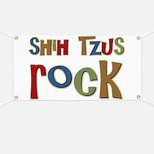 Shih Tzus Rock Dog Owner lover Banner
