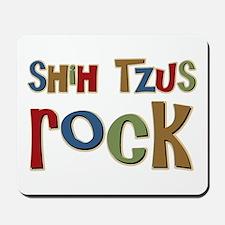 Shih Tzus Rock Dog Owner lover Mousepad
