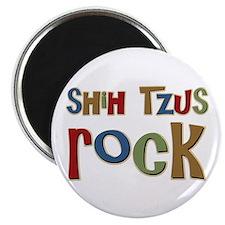 """Shih Tzus Rock Dog Owner lover 2.25"""" Magnet (100 p"""