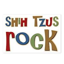 Shih Tzus Rock Dog Owner lover Postcards (Package