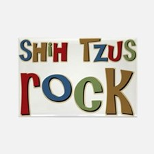Shih Tzus Rock Dog Owner lover Rectangle Magnet