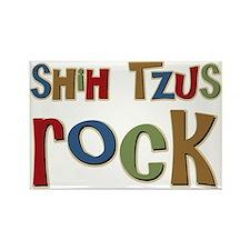 Shih Tzus Rock Dog Owner lover Rectangle Magnet (1