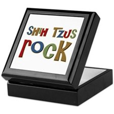 Shih Tzus Rock Dog Owner lover Keepsake Box