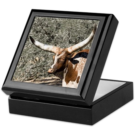 Spotted Watusi Bull Keepsake Box