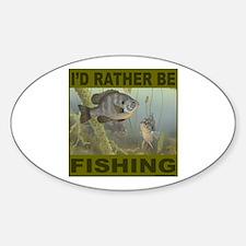FISHING/FISHERMEN Oval Decal