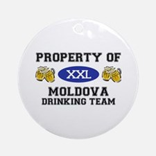 Property of Moldovan Drinking Team Ornament (Round