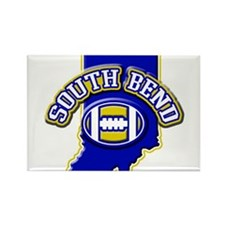 South Bend Football Rectangle Magnet