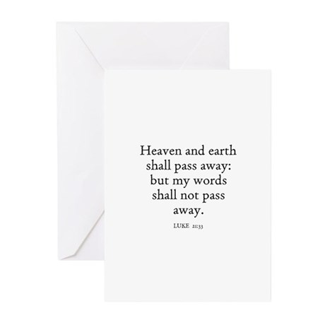 LUKE 21:33 Greeting Cards (Pk of 10)
