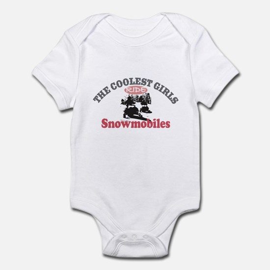 Coolest Girls Snowmobile Infant Bodysuit
