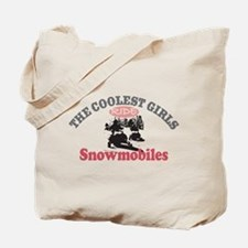 Coolest Girls Snowmobile Tote Bag